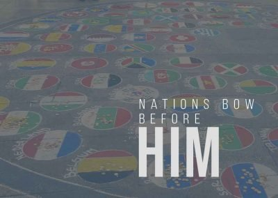 nations bow before him